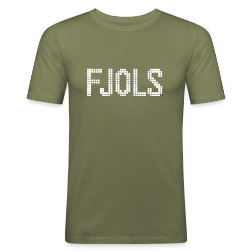 FJOLS med hvid tekst - Herre Slim Fit T-Shirt