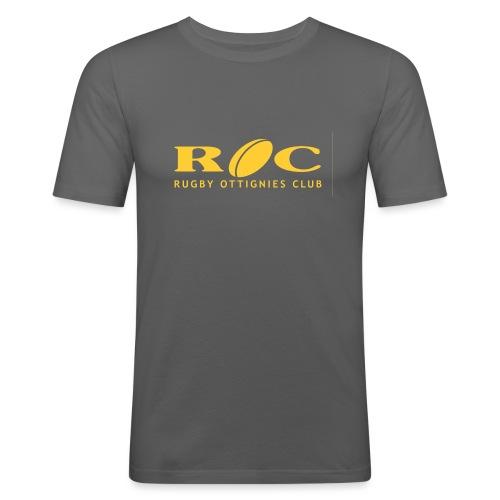 ROC Jaune sur bleu - T-shirt près du corps Homme
