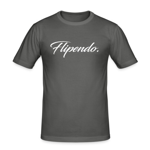 Flipendo. - Mannen slim fit T-shirt