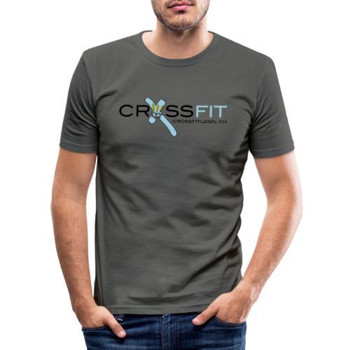 Logo klein - Männer Slim Fit T-Shirt