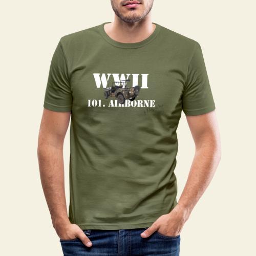 101 airborne png - Herre Slim Fit T-Shirt