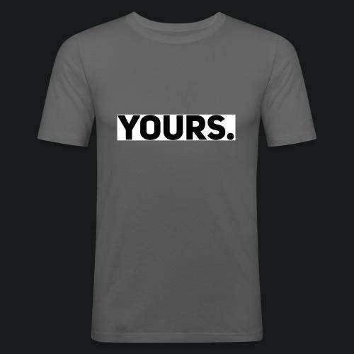 ZWART YOURS. SWEATER MAN - Mannen slim fit T-shirt