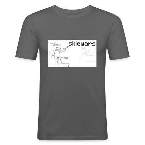 SKIEWARS - Mannen slim fit T-shirt