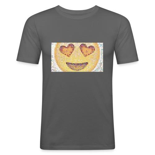 Emoij Hoesje - Mannen slim fit T-shirt