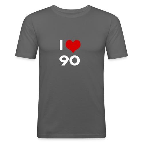 I love 90 - Maglietta aderente da uomo