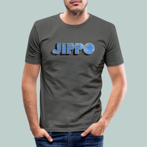 JIPPO LOGO (blue) - Miesten tyköistuva t-paita