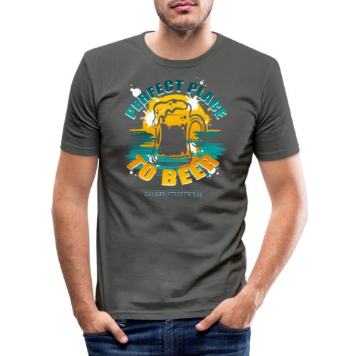 a perfect place to beer - Männer Slim Fit T-Shirt