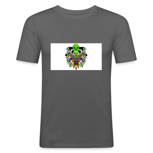 Colorfull skull - Miesten tyköistuva t-paita
