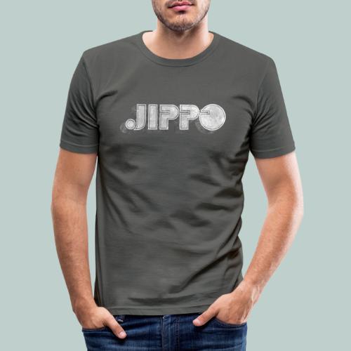 Retro JIPPO logo - Miesten tyköistuva t-paita