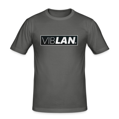 VibLAN_LOGO - Herre Slim Fit T-Shirt