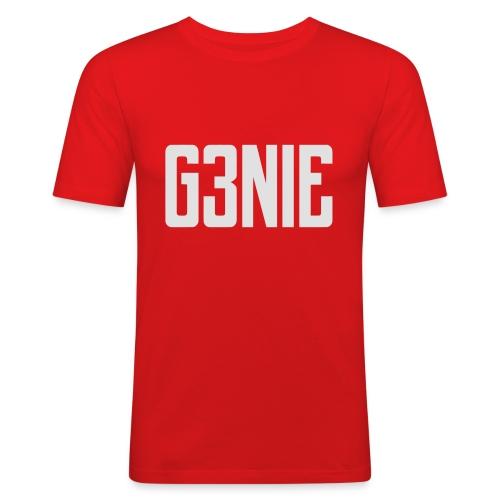 G3NIE bear - Mannen slim fit T-shirt