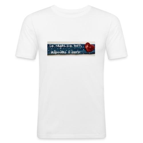 Cuore - Maglietta aderente da uomo