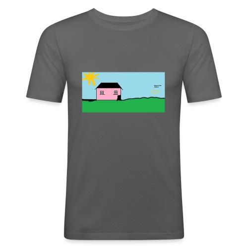 tskjorte med hus - Slim Fit T-skjorte for menn