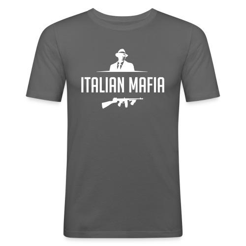 italian mafia - Maglietta aderente da uomo