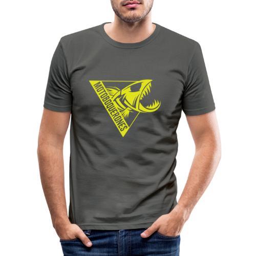 Logo Motoboquerones amarillo - Camiseta ajustada hombre