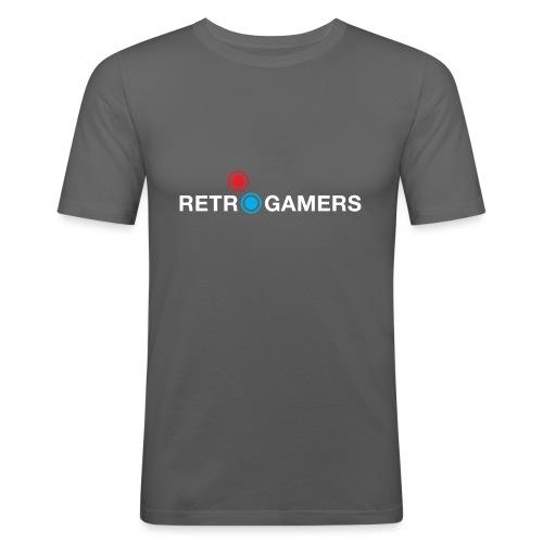 Logo Retrogamers Blanco - Camiseta ajustada hombre