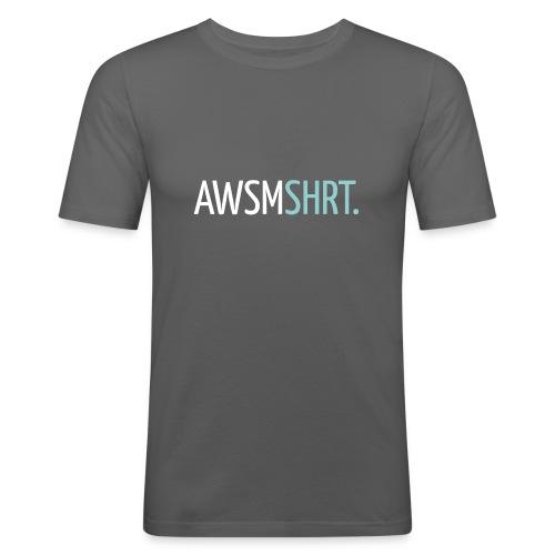 awsmshrt3000 - Mannen slim fit T-shirt
