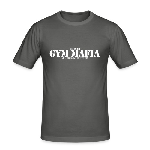 gym_mafia_white - Obcisła koszulka męska