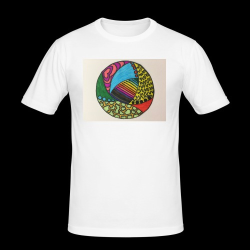 circle corlor - Herre Slim Fit T-Shirt
