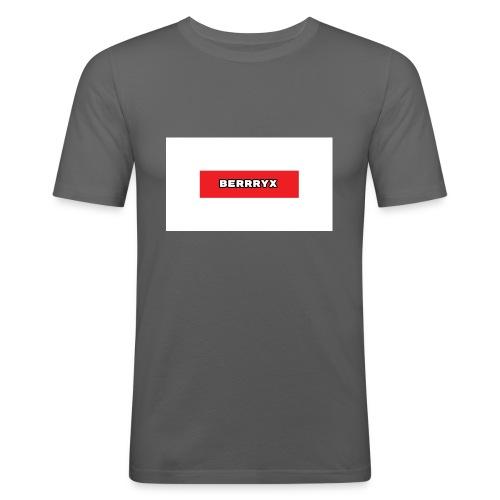 box logo - Slim Fit T-skjorte for menn