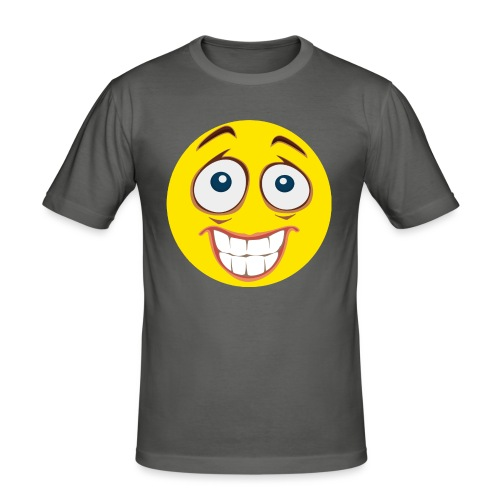 Gekke Smiley - Mannen - slim fit T-shirt