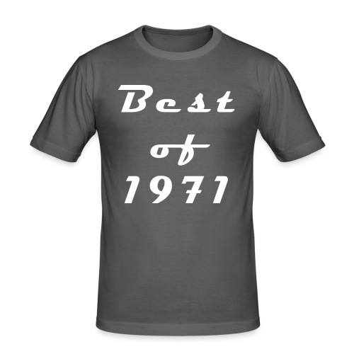 Best of 1971 - Männer Slim Fit T-Shirt