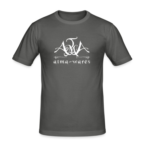 atma wares logo white - Mannen slim fit T-shirt