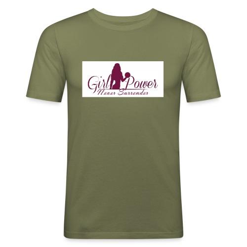 GIRL POWER NEVER SURRENDER - Camiseta ajustada hombre