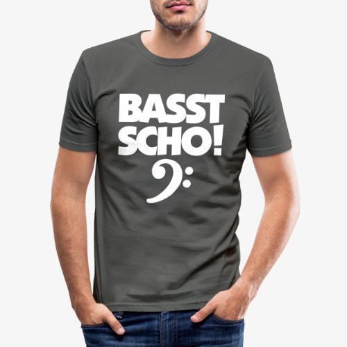 BASST SCHO! Bass Design für Bassisten - Männer Slim Fit T-Shirt