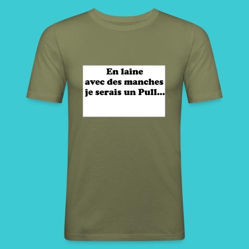 t-shirt humour - T-shirt près du corps Homme