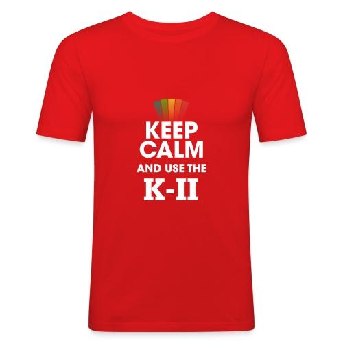 KEEP CALM KII png - T-shirt près du corps Homme