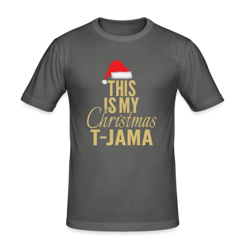 This is my christmas t jama gold 01 - Maglietta aderente da uomo