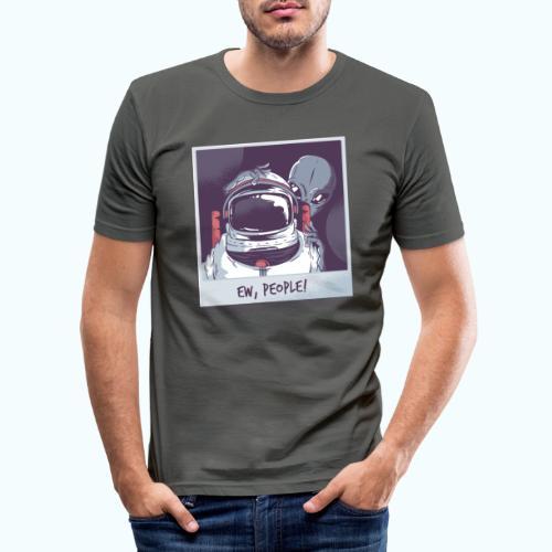 Aliens and astronaut - Men's Slim Fit T-Shirt