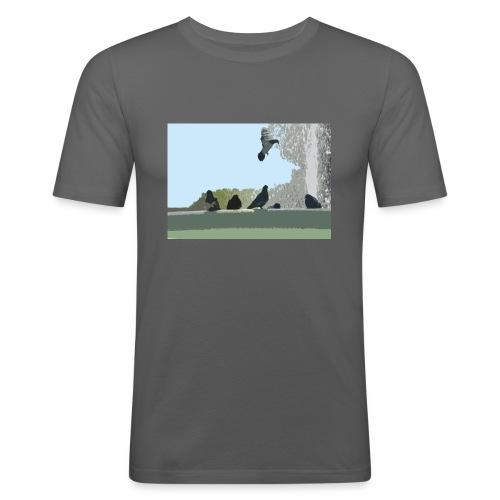 Chillin' pigeons - Mannen slim fit T-shirt