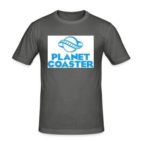game planet coaster - Mannen slim fit T-shirt