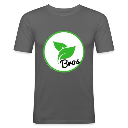 Twin Bros (Large Logo) - Men's Slim Fit T-Shirt