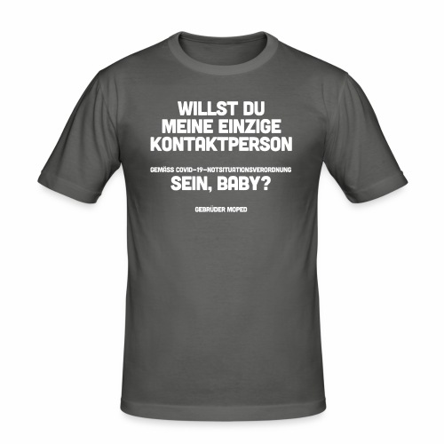 Kontaktperson - Männer Slim Fit T-Shirt