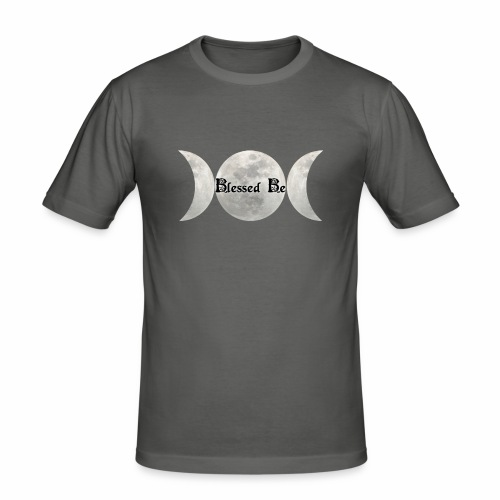 Triple Moon Blessings - Men's Slim Fit T-Shirt
