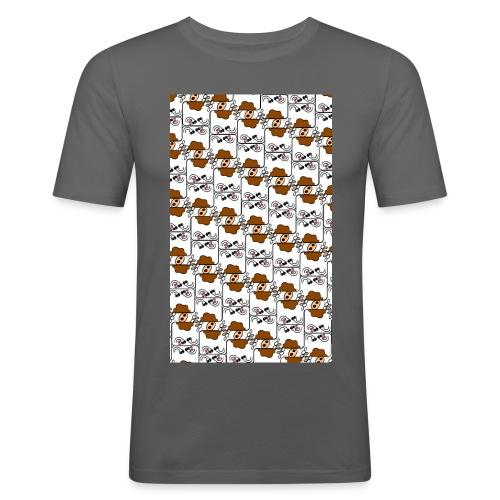 Cow Matrix - Men's Slim Fit T-Shirt