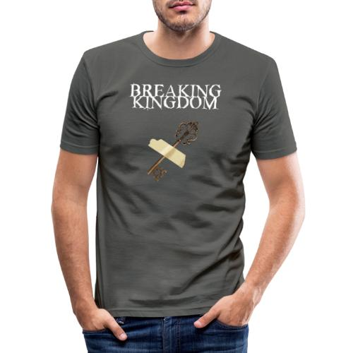 Breaking Kingdom schwarzes Design - Männer Slim Fit T-Shirt