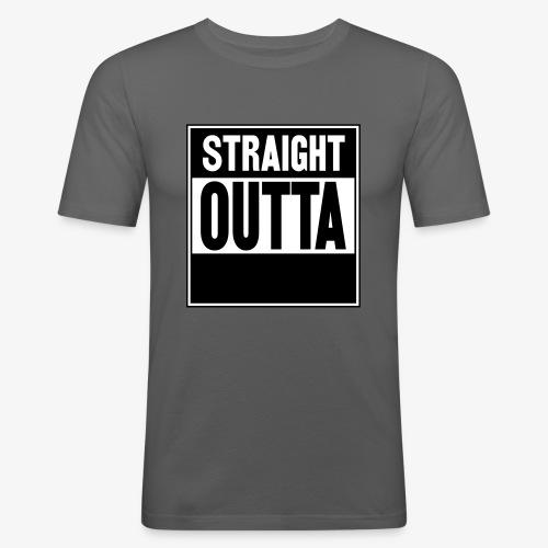 Straight Outta - Slim Fit T-shirt herr