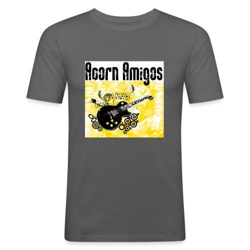 acorn amigos logo - Slim Fit T-shirt herr