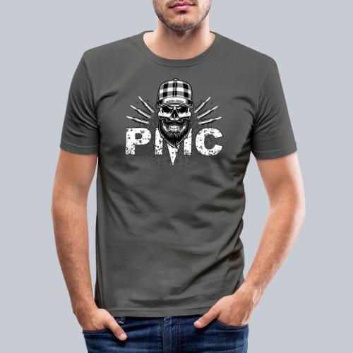 PMC Skull white - Männer Slim Fit T-Shirt