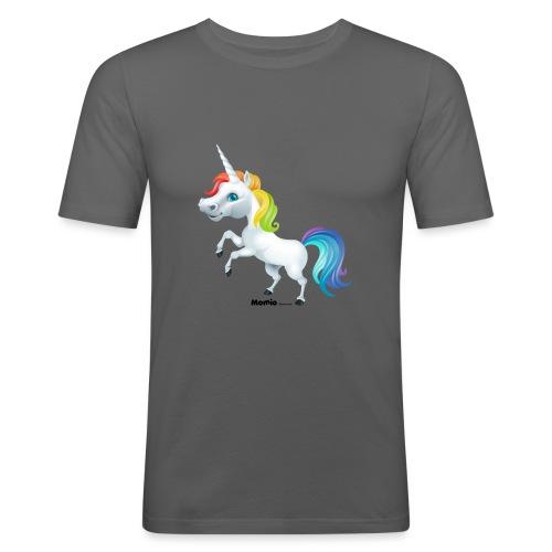 Regenboog eenhoorn - Mannen slim fit T-shirt