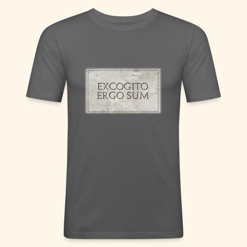 Excogitoergosum - Maglietta aderente da uomo