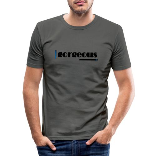 Gorgeous Blue - Men's Slim Fit T-Shirt