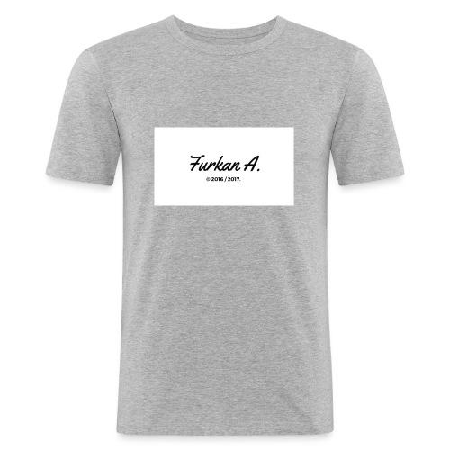 Furkan A - Zwarte sweater - Mannen slim fit T-shirt