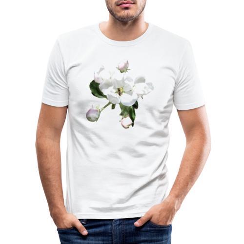 Omenankukka ja kukkakärpänen - Miesten tyköistuva t-paita