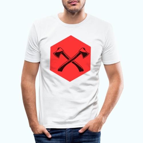 Hipster ax - Men's Slim Fit T-Shirt
