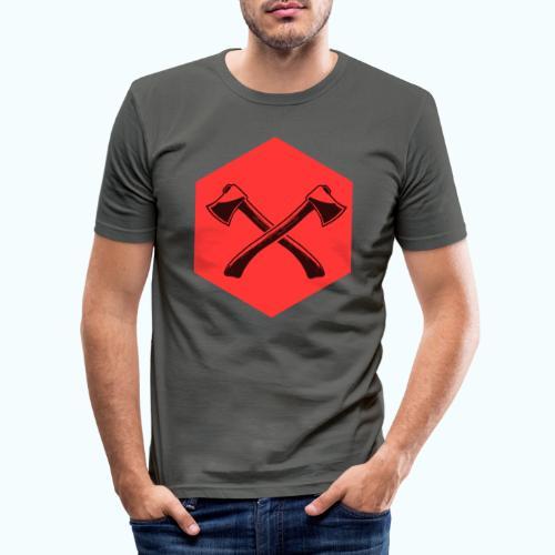 Hipster ax - Men's Slim Fit T-Shirt